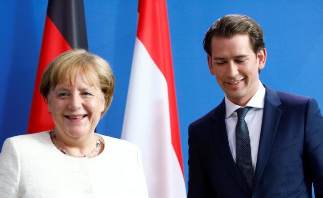 Angela Merkel et Sebastian Kurz mardi 12 juin 2018 à Berlin © Reuters / Michele Tantussi.