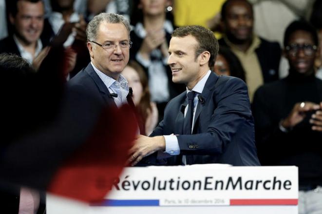 Richard Ferrand et Emmanuel Macron, le 10 décembre 2016. © Reuters/Benoit Tessier