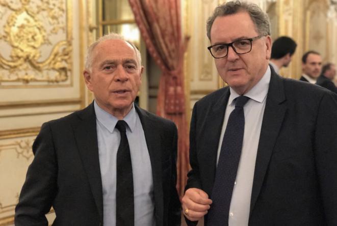 François Patriat et Richard Ferrand. © Twitter/@RichardFerrand