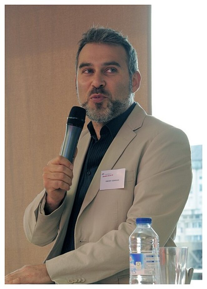 Vincent Cespedes en 2011, lors d'une conférence organisée par le MEDEF de Loire-Atlantique
