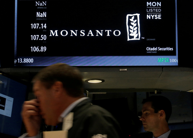 Monsanto shares tracked on the New York Stock Exchange © Reuters.