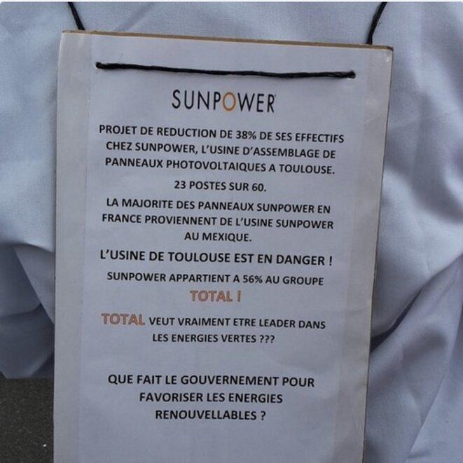 Pendant la « Fête à Macron » à Toulouse le 5 mai (via le compte Twitter de la CFDT SunPower).