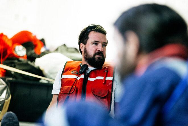 Nick Romaniuk, ancien plongeur de métier, depuis 2016 avec SOS Méditerranée © Yann Levy