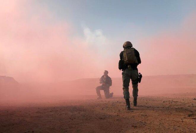 Lors d'un exercice militaire conduit par les États-Unis, le 18 avril 2018 au Niger. © Reuters