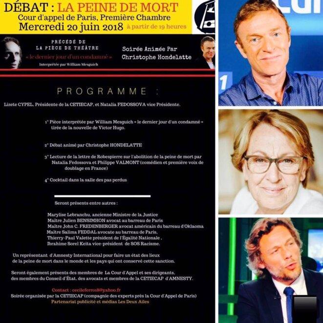 Thierry Paul Valette , Christophe Hondelatte, Marylise Lebranchu , débat sur la peine de mort