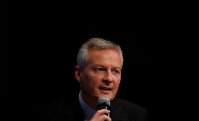 Le ministre Bruno Le Maire a présenté lundi son projet de loi Pacte. © Reuters
