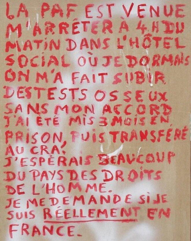 Témoignage affiché à Sète le 3 juin © CC