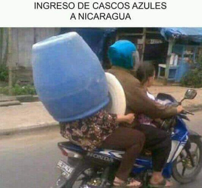 """Les """"casques bleus"""" au Nicaragua"""