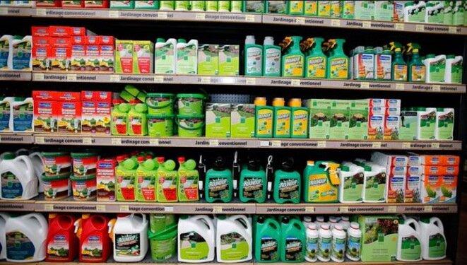 Herbicidas, incluido el Roundup en una tienda. © Reuters