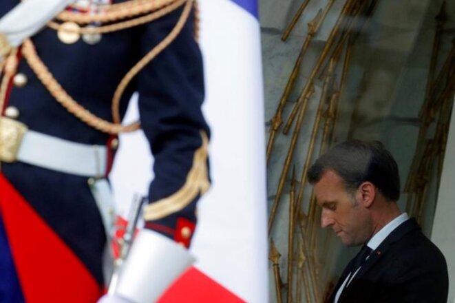 Emmanuel Macron à l'Élysée, le 4 juin. © Reuters