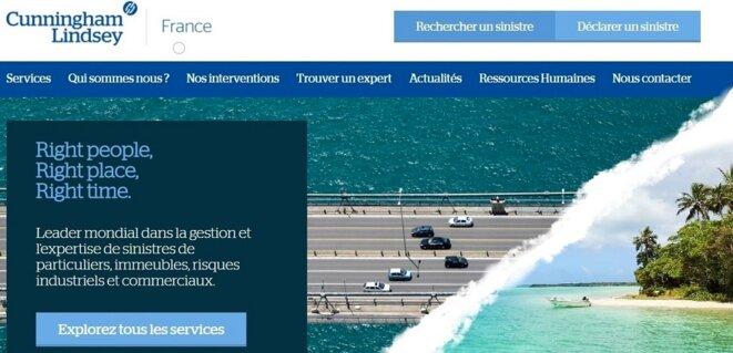 Capture d'écran du site de la compagnie.