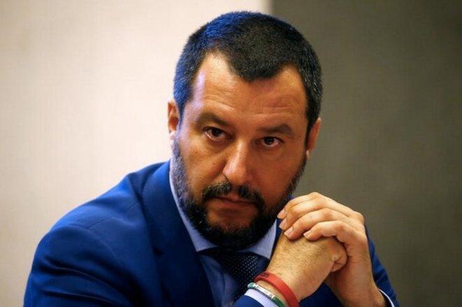 Le ministre de l'intérieur italien Matteo Salvini, le 20 juin 2018. © Reuters