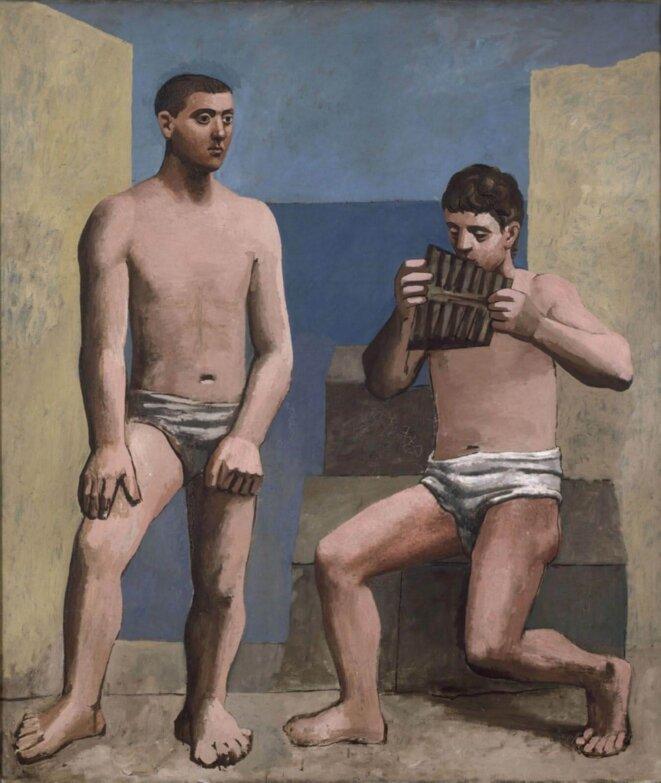 Pablo Picasso, La Flûte de Pan, 1923, huile sur toile MP79, Musée national Picasso-Paris