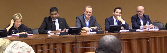 Panel de cette conférence sur le journalisme en Afrique. © Media Expertise