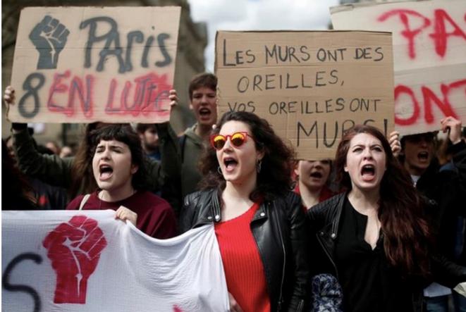 Dans un défilé parisien, le 9 avril 2018. © Reuters