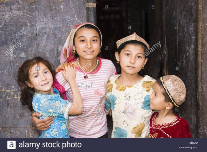 Les enfants ouïghours © Alamy