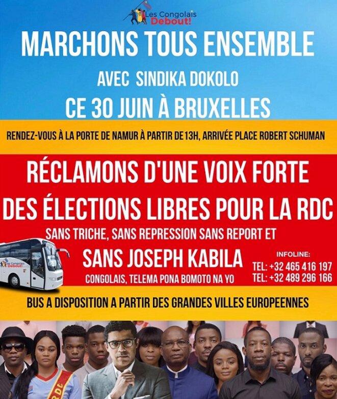 SINDIKA DOKOLO (ET LES CONGOLAIS DEBOUT !) APPELLE LES CONGOLAIS DE LA DIASPORA A MARCHER CE 30 JUIN A BRUXELLES !!! Freddy-mulongo-dokolosindika-2