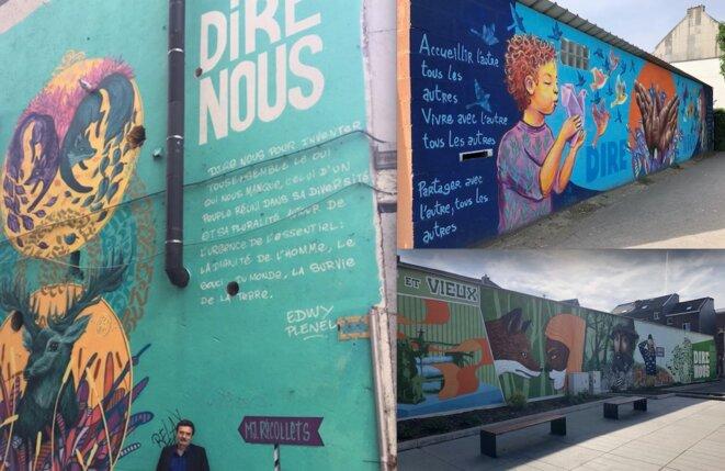 """Les fresques """"Dire nous"""" de Verviers"""