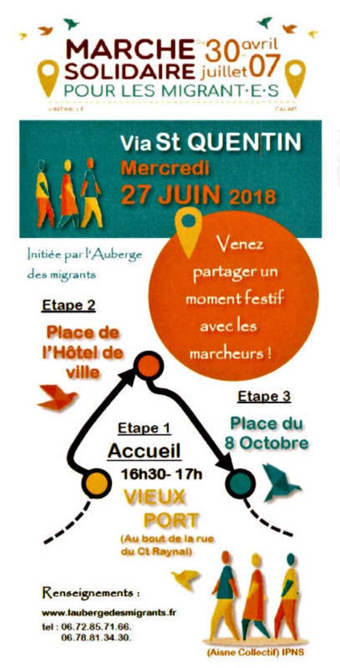 La Marche citoyenne et solidaire arrive à Saint-Quentin (02) © ep/collectif marche solidaire Saint-Quentin