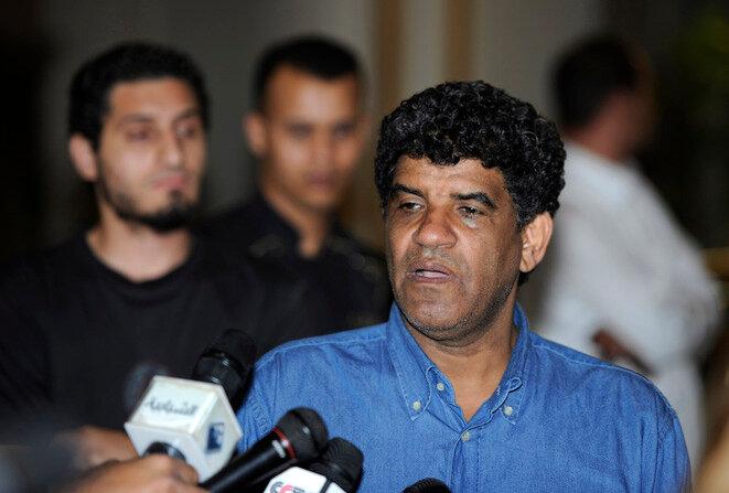Abdallah Senoussi, en agosto de 2011, antes de la caída del régimen libio. © Reuters