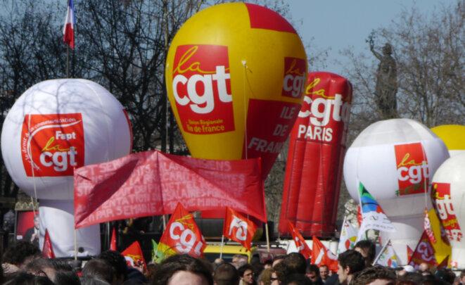 Lors d'une manifestation à Paris, le 17 mars. © D.I.