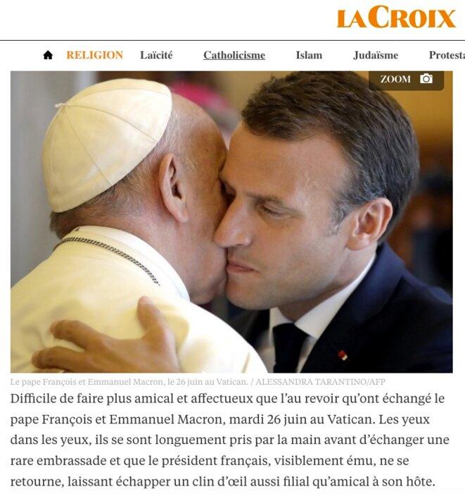 Capture d'écran du site de « La Croix »...
