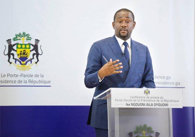 IKE NGOUONI AILA OYOUOMI, Porte-parole de la présidence de la République Gabonaise