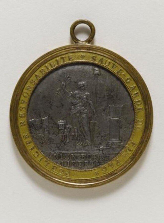 Insignia de los alguaciles del Ayuntamiento de París en 1792.
