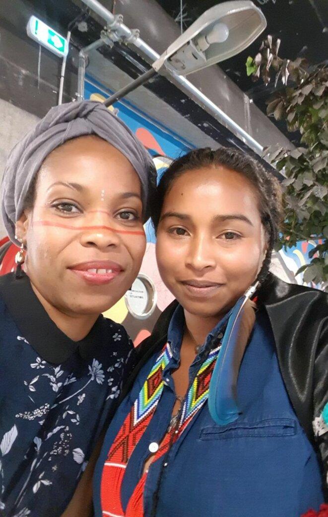 Nokhtua Zéba (à gauche) et Amandine Mawalum Galima