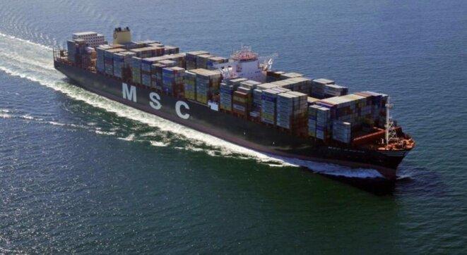 One of MSC's most recent container ships, MSC Sveva. © MSC