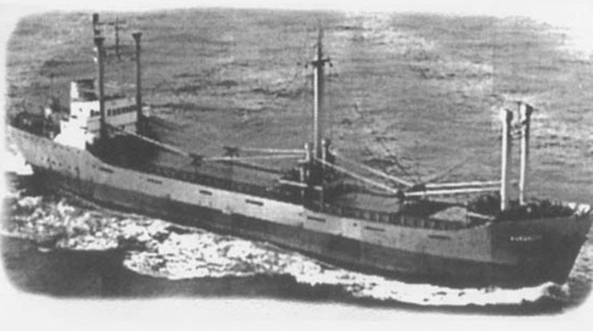 The 'Patricia', MSC's first ship. © MSC