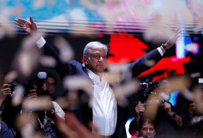 Obrador a remporté l'élection avec plus de 53% des voix, selon les premiers résultats. © Reuters
