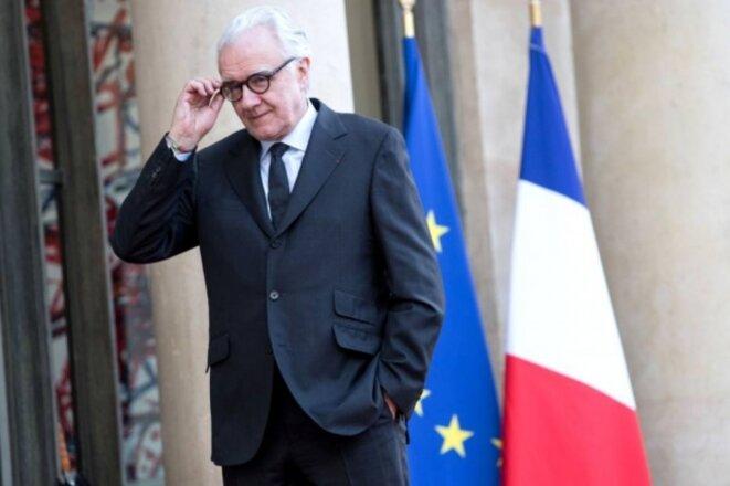 Alain Ducasse à l'Elysée en avril 2018. © Reuters