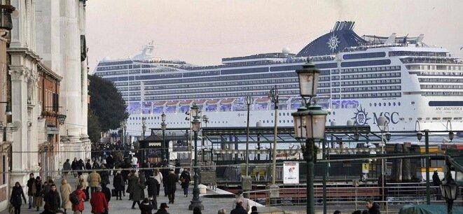 MSC cruise line at Venice.