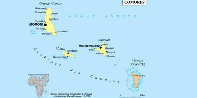 Carte de Mayotte. © DR