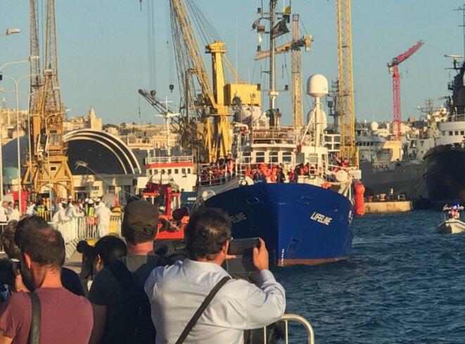 Le navire «Lifeline», affrété par une ONG allemande, à son arrivée à Malte le 27 juin 2018. © Mission Lifeline