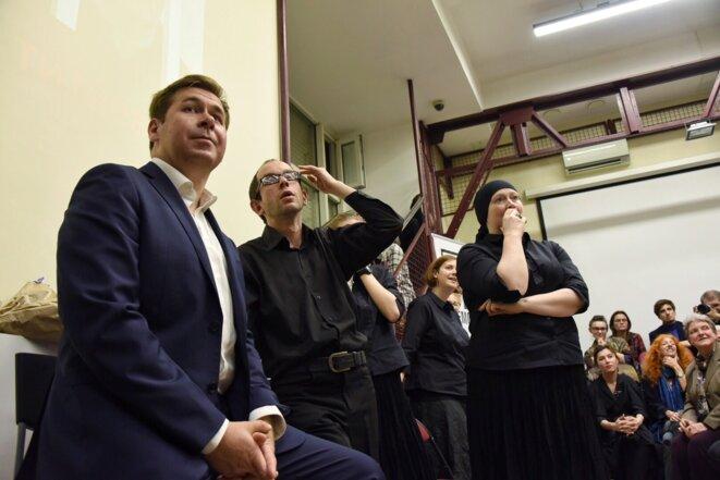 Alerte à la bombe à Teatra.doc © Novaya Gazeta