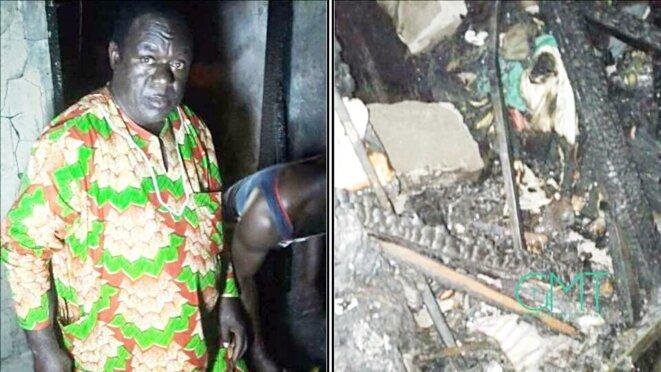 Féfé Onanga : un Résistant debout devant les décombres de ce qui était sa maison