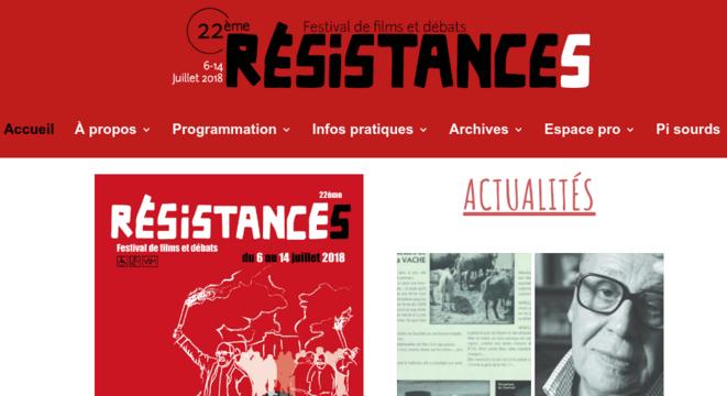 Site Festival Résistances © Site Festival Résistances