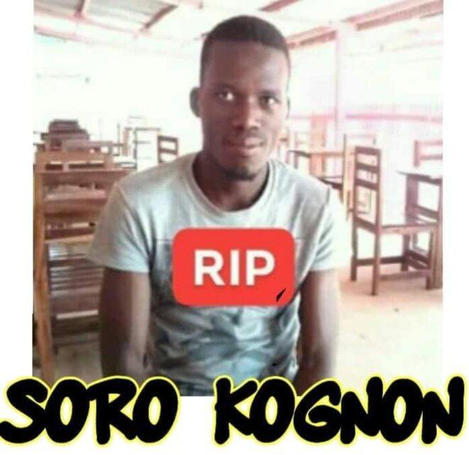 Le Jeune étudiant Soro Kognon, assassiné le 7 juillet 2018 à Korhogo par Les ennemis de la Liberté en Côte d'Ivoire