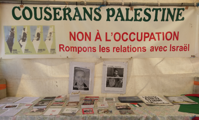 Stand Couserans-Palestine © Favier