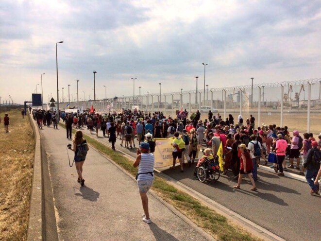 La Marche solidaire pour les migrants à Calais, 7 juillet 2018.