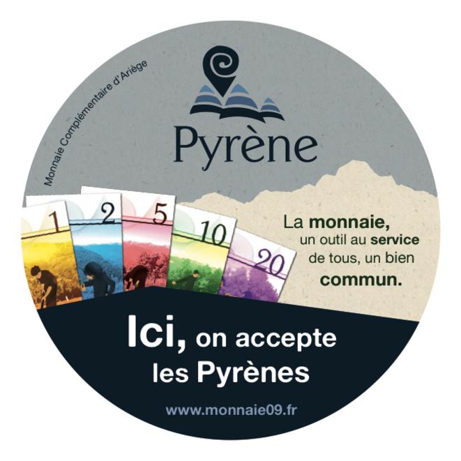 Autocollant Pyrène © Monnaie 09