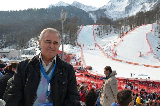 Piotr Parpoulov à Sotchi lors des JO en 2014