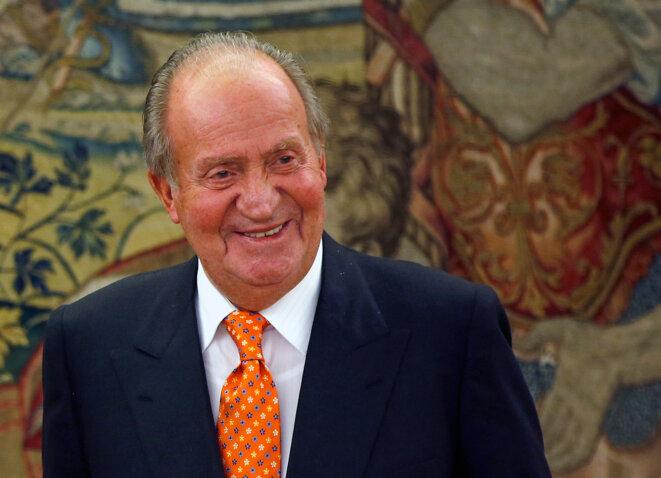 Juan Carlos I le 2 juin 2014, peu de temps avant son abdication. © Reuters / Susana Vera.