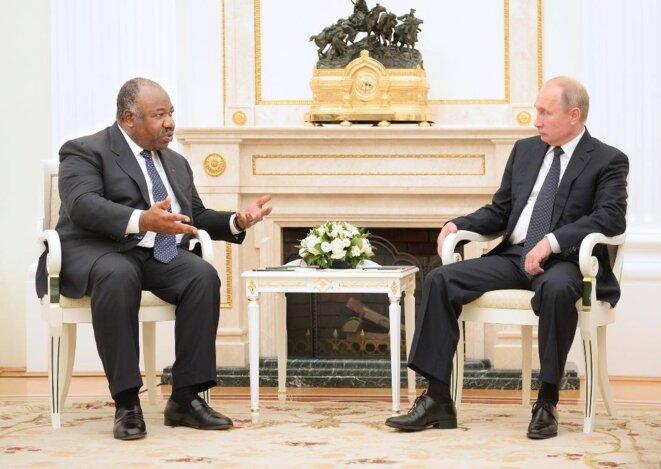E Ali Bongo Ondimba, SE Vladimir Poutine – Visite de travail et d'amitié au Kremlin (Russie)