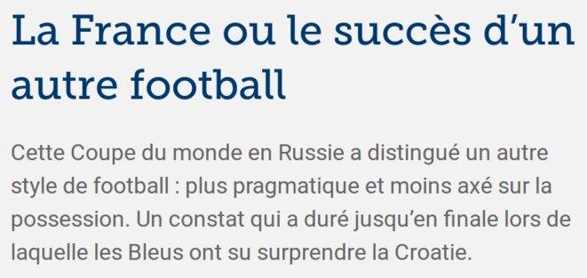 http://sport24.lefigaro.fr/football/coupe-du-monde/russie-2018/actualites/coupe-du-monde-2018-la-france-ou-le-succes-d-un-autre-football-917864
