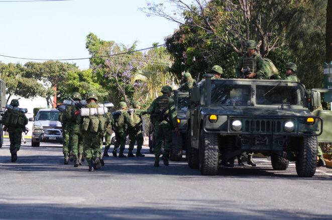 militaires dans le violent Etat du Guerrero, sur la côte Pacifique sud du Mexique © Clément Detry