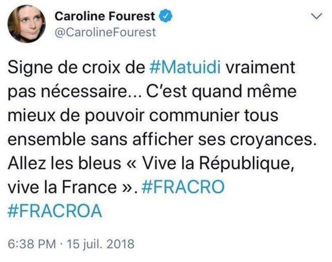 Caroline Fourest - Tweet Matuidi