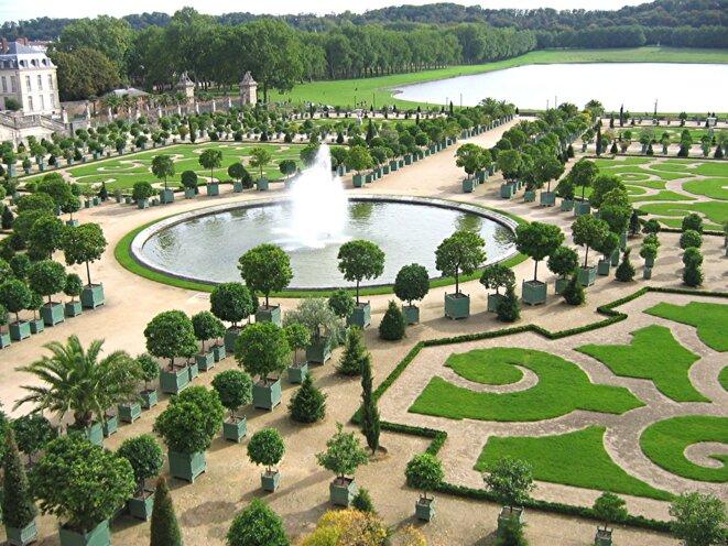 Jardin classique - Parc de l'orangerie du Château de Versailles (Crédit : Urban, licence CC 3.0 BY-SA)